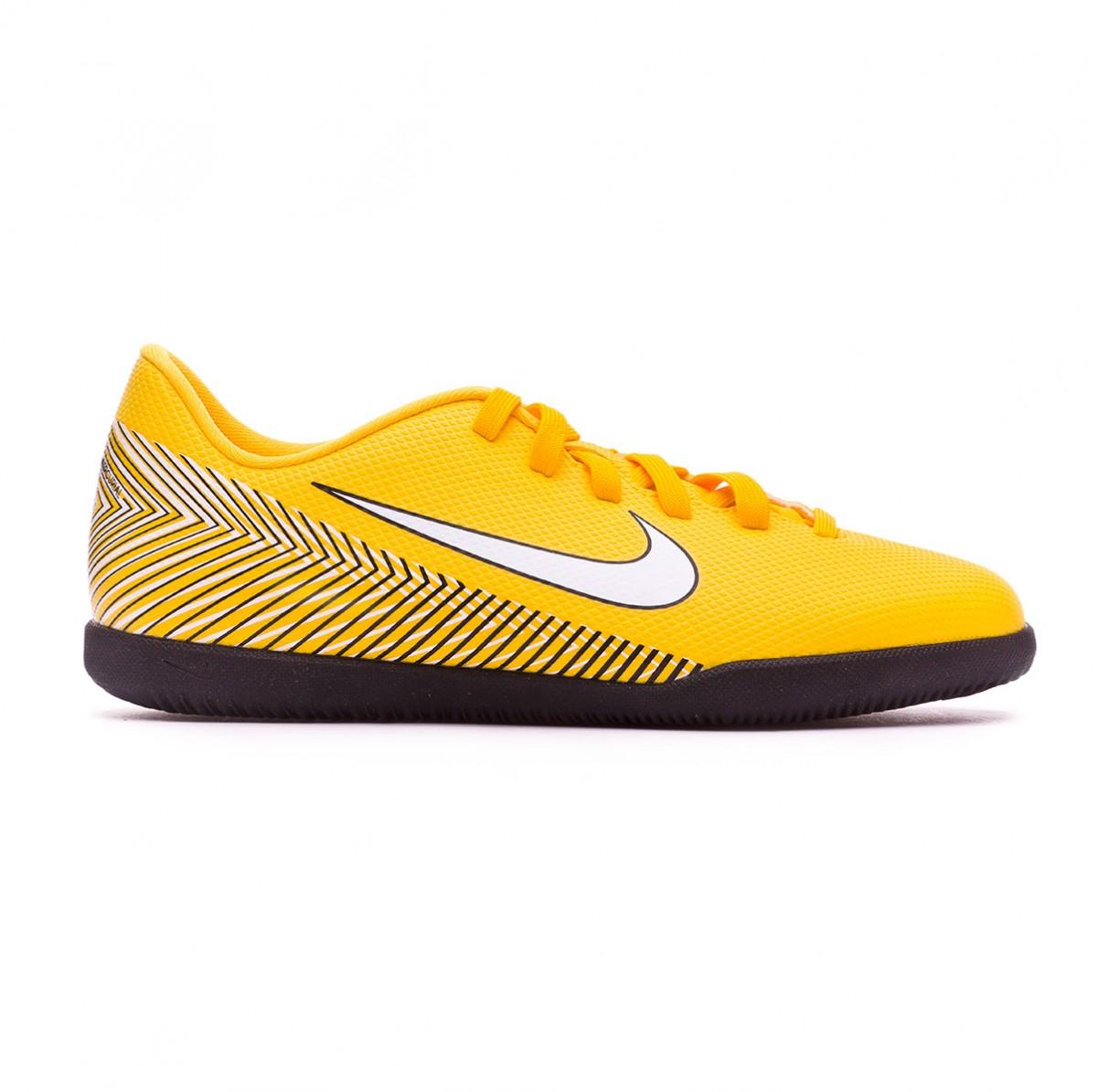reputable site f28e7 aa8f2 Futsal Boot Nike Kids Mercurial VaporX XII Club IC Neymar Yellow-Black -  Football store Fútbol Emotion