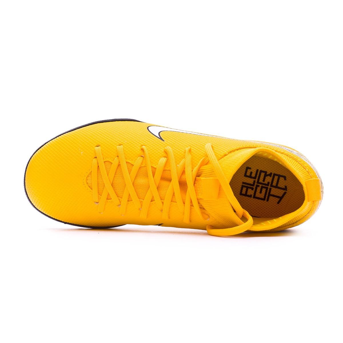 Football Boot Nike Kids Mercurial SuperflyX VI Academy Turf Neymar Yellow- Black - Leaked soccer 7f5423facc2c2