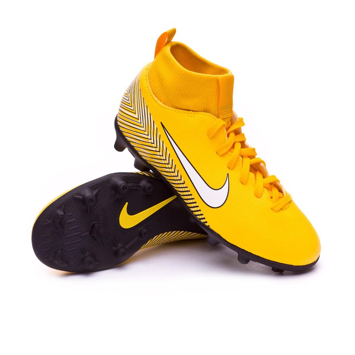 901eaebbb3965 Football Boots Nike Kids Mercurial Superfly VI Club MG Neymar Yellow ...