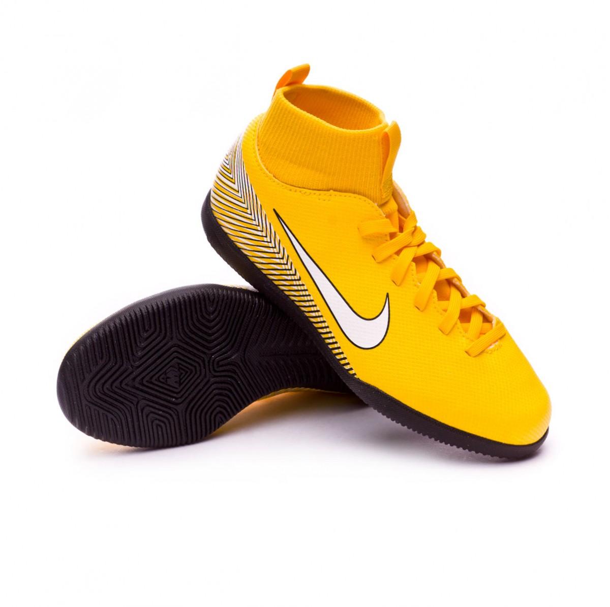 36d27ce82f6e Futsal Boot Nike Kids Mercurial SuperflyX VI Club IC Neymar Yellow ...