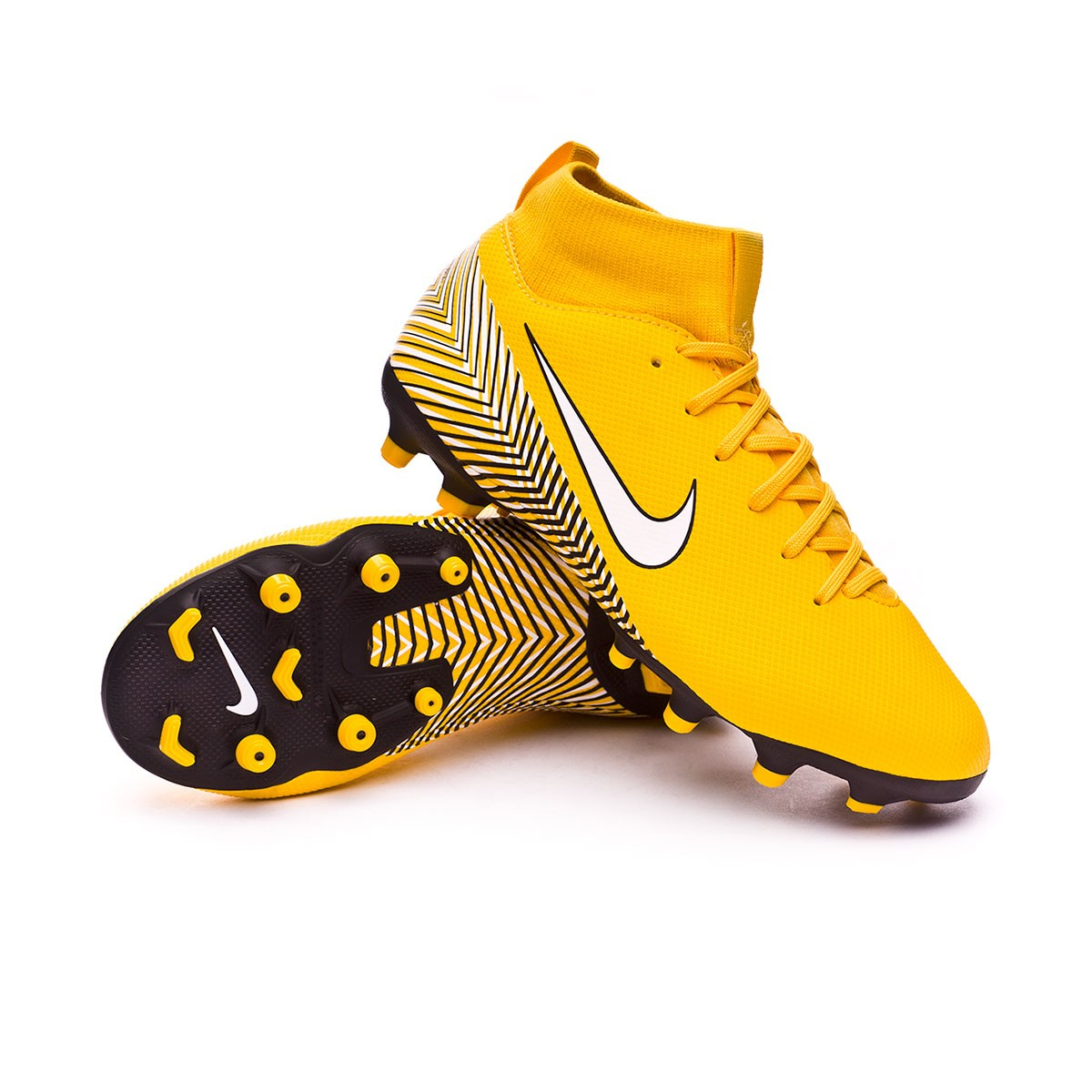 on sale 2a0b3 7ef32 Bota Mercurial Superfly VI Academy MG Neymar Niño Yellow-Black