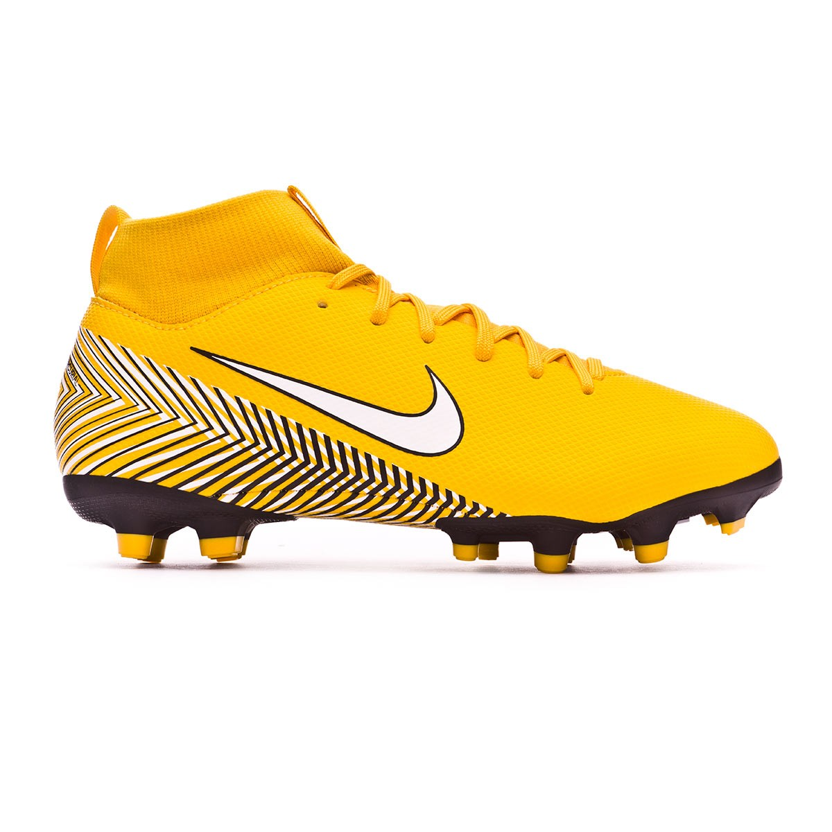337412621 Football Boots Nike Kids Mercurial Superfly VI Academy MG Neymar Yellow-Black  - Football store Fútbol Emotion