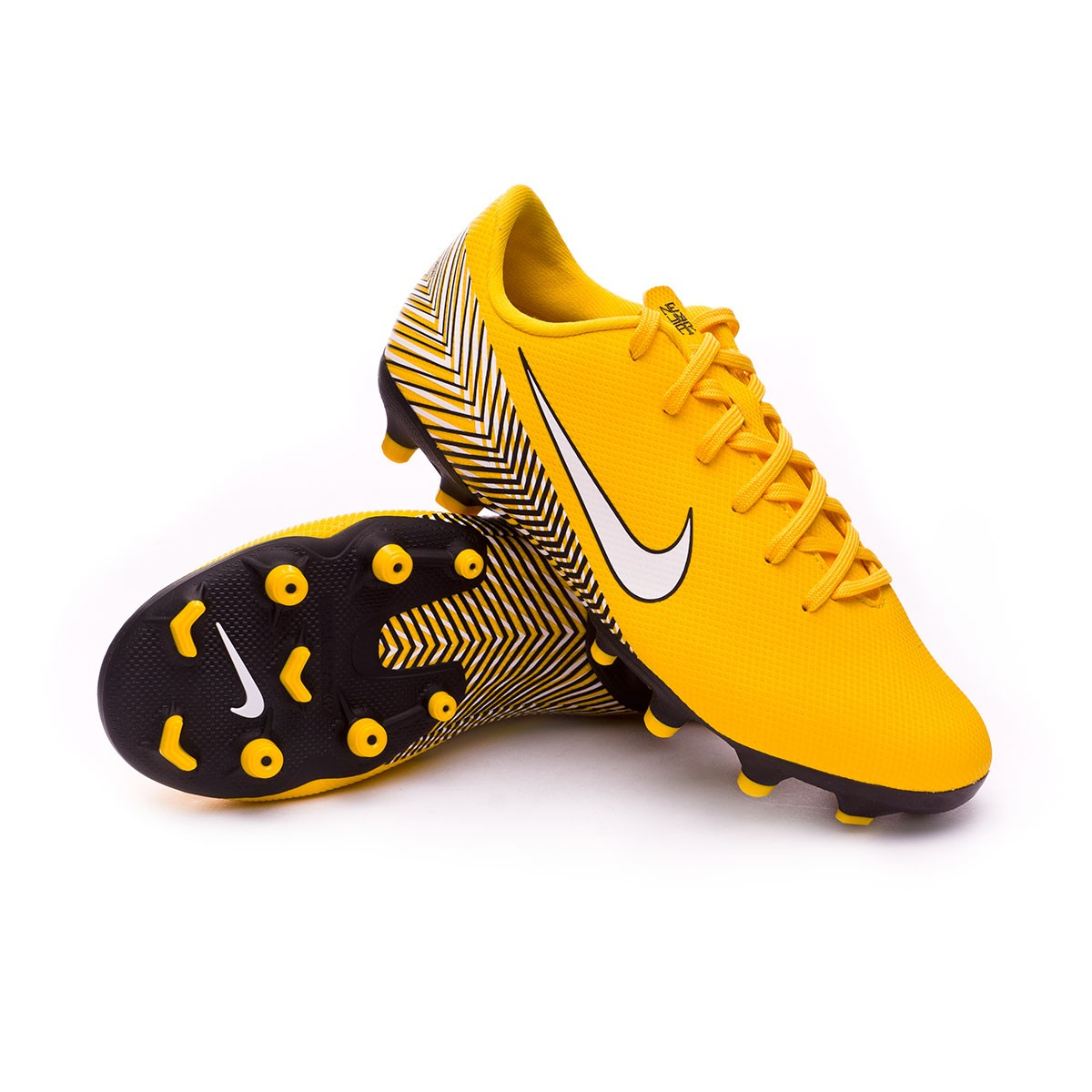 34c932b7f442 Football Boots Nike Kids Mercurial Vapor XII Academy MG Neymar  Yellow-Dinamic yellow-Black - Football store Fútbol Emotion