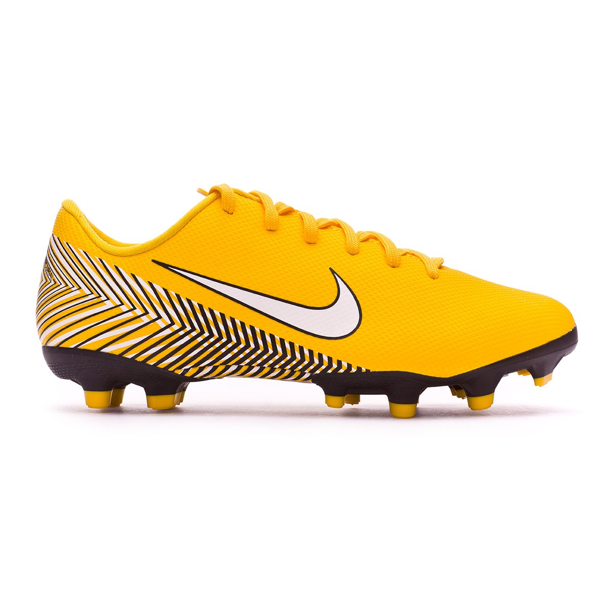 Scarpe Nike Mercurial Vapor XII Academy MG Neymar Junior Yellow-Dinamic  yellow-Black - Negozio di calcio Fútbol Emotion ad694da20a2