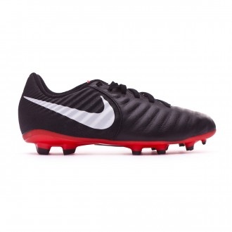 Football Boots  Nike Kids Tiempo Legend VII Academy MG Black-Pure platinum-Light crimson