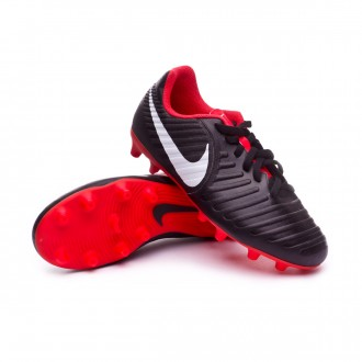 Bota  Nike Tiempo Legend VII Club MG Niño Black-Pure platinum-Light crimson