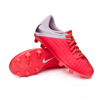 Bota  Nike Hypervenom Phantom III Club FG Niño Light crimson-Metallic dark grey-Wolf grey