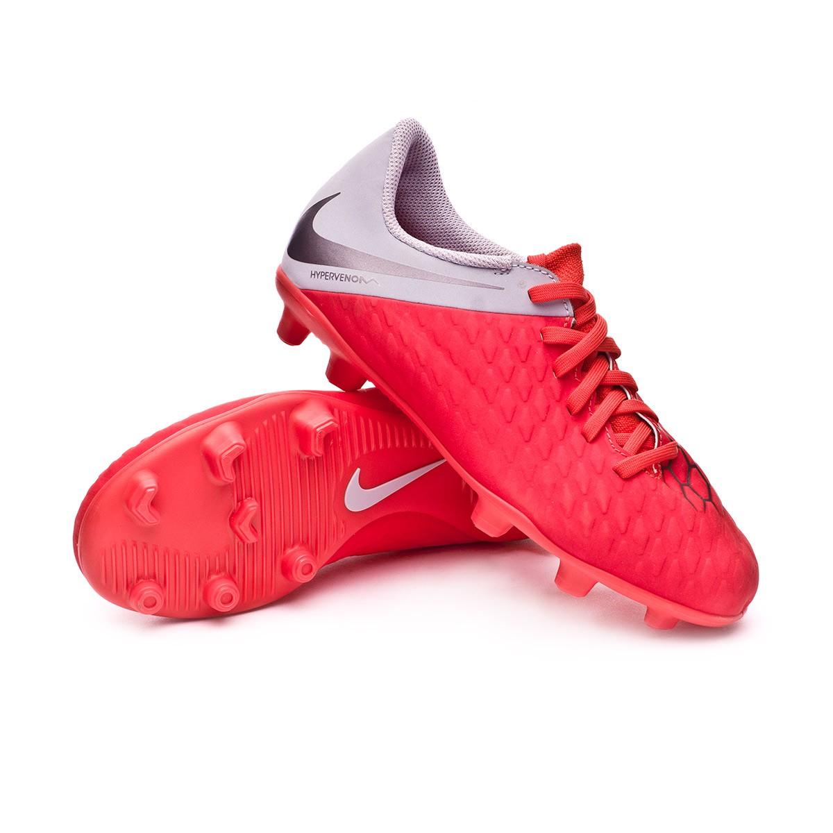 d17cb5ec1 Football Boots Nike Kids Hypervenom Phantom III Club FG Light  crimson-Metallic dark grey-Wolf grey - Football store Fútbol Emotion