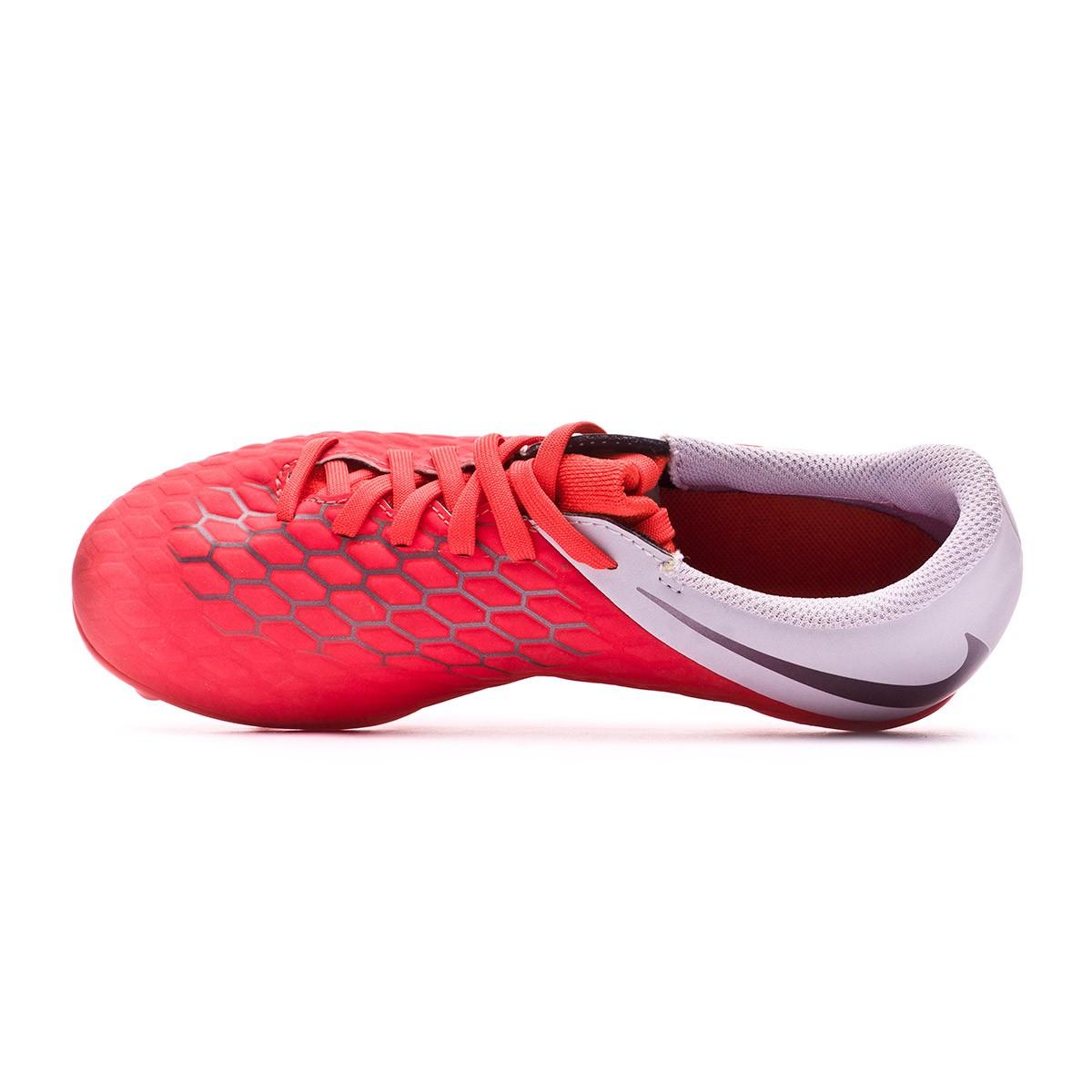5ec861ce8221 Football Boots Nike Kids Hypervenom Phantom III Club FG Light crimson-Metallic  dark grey-Wolf grey - Football store Fútbol Emotion