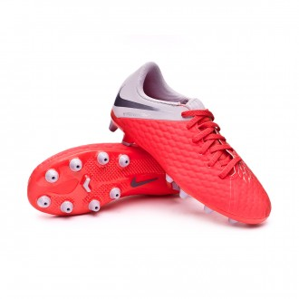 Boot  Nike Kids Hypervenom Phantom III Academy AG-Pro Light crimson-Metallic dark grey-Wolf grey