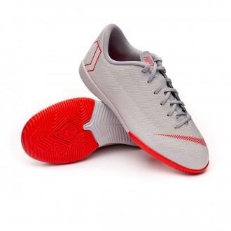 Sapatilha de Futsal  Nike Mercurial VaporX XII Academy GS IC Niño Wolf grey-Light crimson-Pure platinum