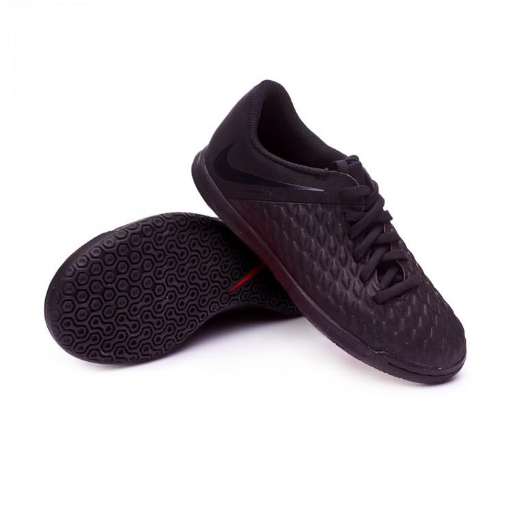 ec478859d22 Futsal Boot Nike Kids Hypervenom Phantom III Club IC Black ...