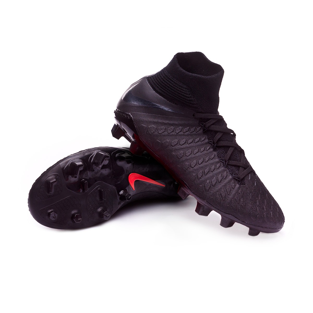 9fb3c0e69d1f Football Boots Nike Kids Hypervenom Phantom III Elite DF FG Black ...