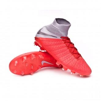 Boot  Nike Kids Hypervenom Phantom III Elite DF FG  Light crimson-Metallic dark grey-Wolf grey