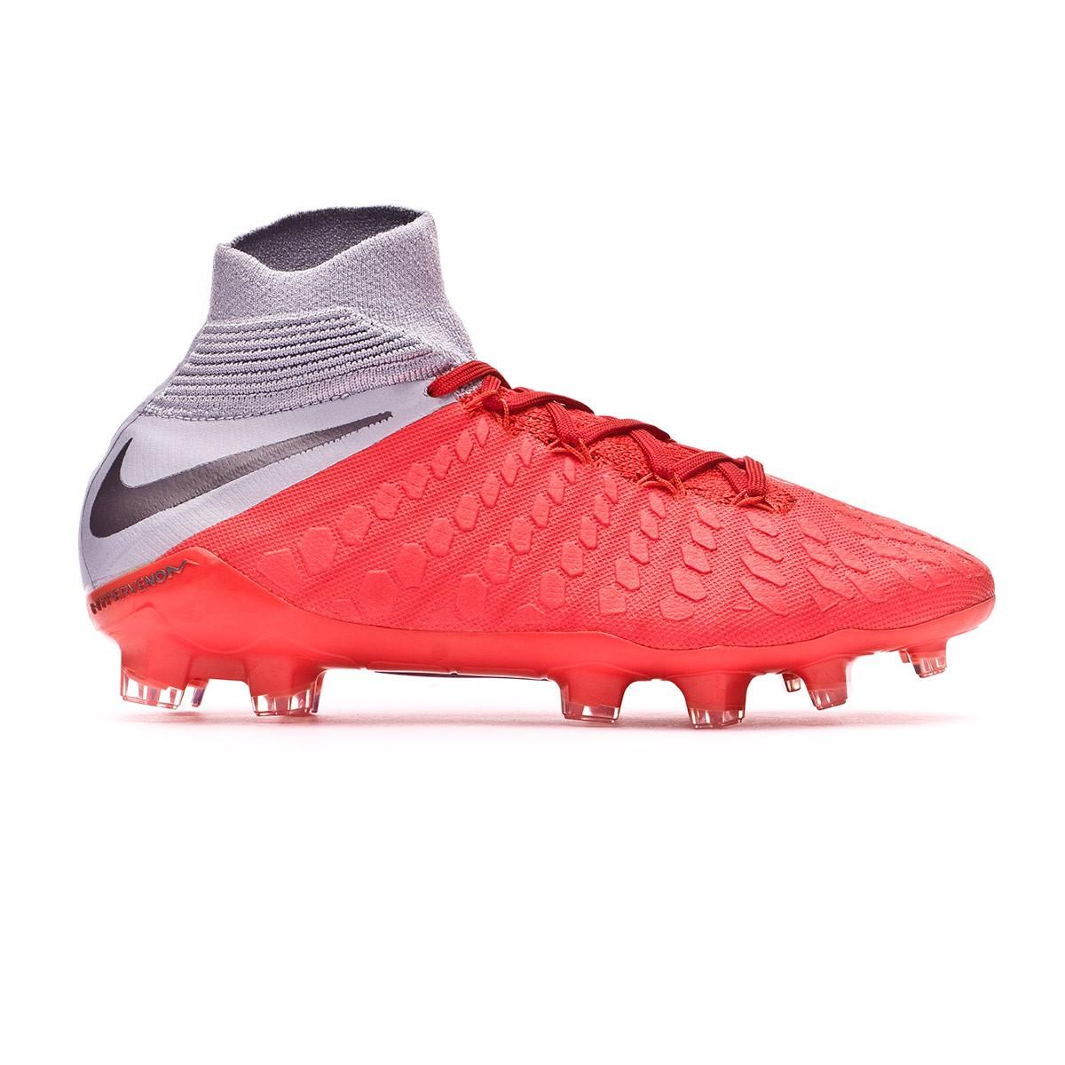 size 40 2f491 b8015 Bota de fútbol Nike Hypervenom Phantom III Elite DF FG Niño Light  crimson-Metallic dark grey-Wolf grey - Tienda de fútbol Fútbol Emotion