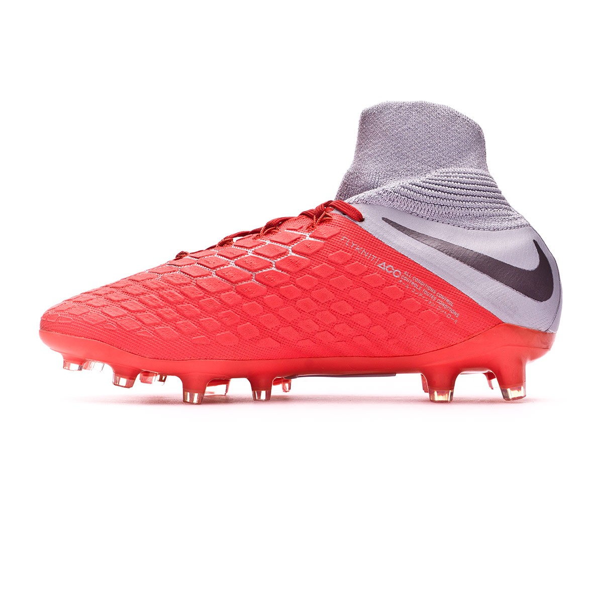 33a2252336a Football Boots Nike Kids Hypervenom Phantom III Elite DF FG Light  crimson-Metallic dark grey-Wolf grey - Football store Fútbol Emotion