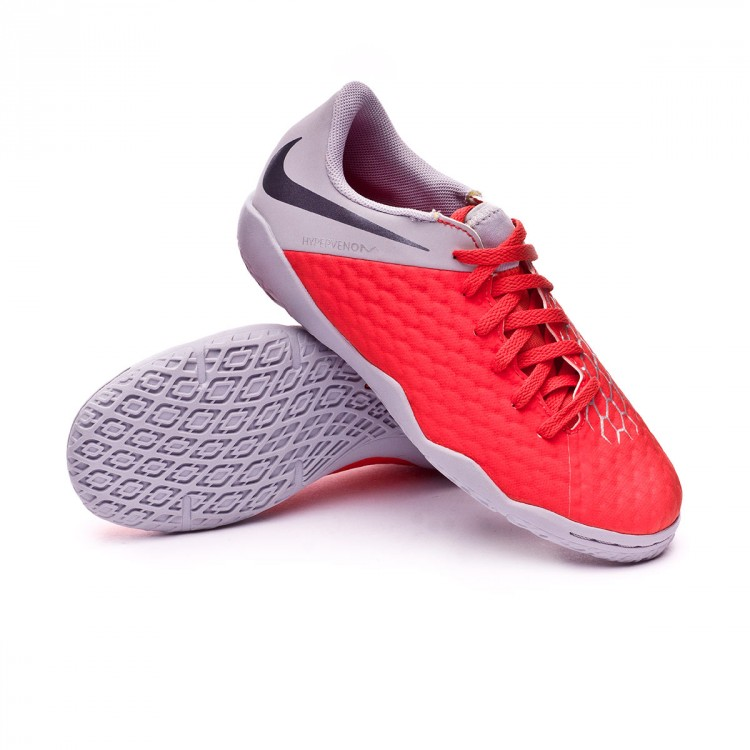 timeless design 3c51e 1410e Zapatilla Hypervenom PhantomX III Academy IC Niño Light crimson-Metallic  dark grey-Wolf grey