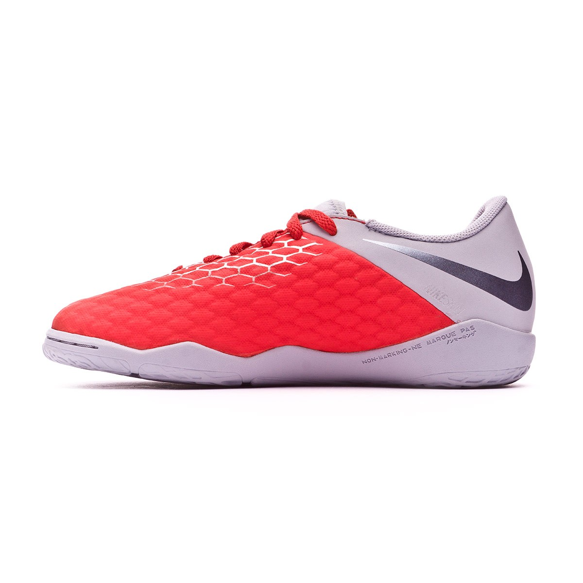 20352f76de76 Futsal Boot Nike Kids Hypervenom PhantomX III Academy IC Light  crimson-Metallic dark grey-Wolf grey - Football store Fútbol Emotion