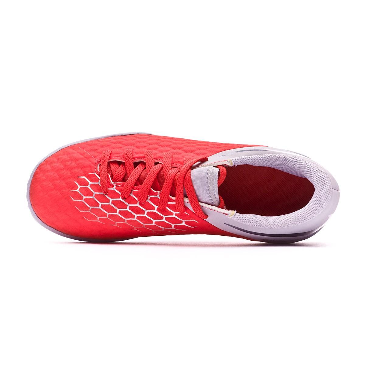 63f4d6f0fb5 Futsal Boot Nike Kids Hypervenom PhantomX III Academy IC Light  crimson-Metallic dark grey-Wolf grey - Football store Fútbol Emotion