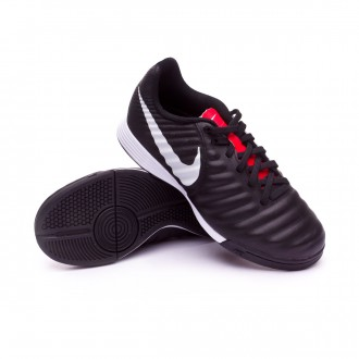 Zapatilla  Nike Tiempo LegendX VII Academy IC Niño Black-Pure platinum-Light crimson