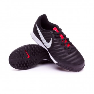Zapatilla  Nike Tiempo LegendX VII Academy Turf Niño Black-Pure platinum-Light crimson