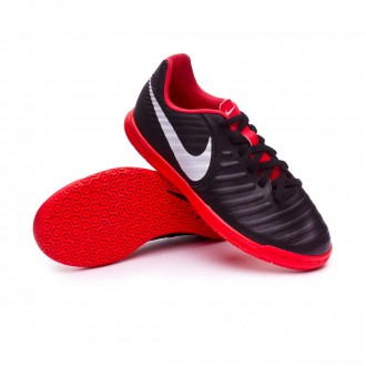 Zapatilla  Nike Tiempo LegendX VII Club IC Niño Black-Pure platinum-Light crimson
