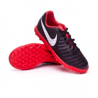 Zapatilla  Nike Tiempo LegendX VII Club Turf Niño Black-Pure platinum-Light crimson