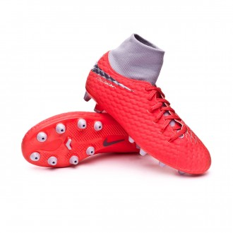 Bota  Nike Hypervenom Phantom III Academy DF AG-Pro Niño Light crimson-Metallic dark grey-Wolf grey