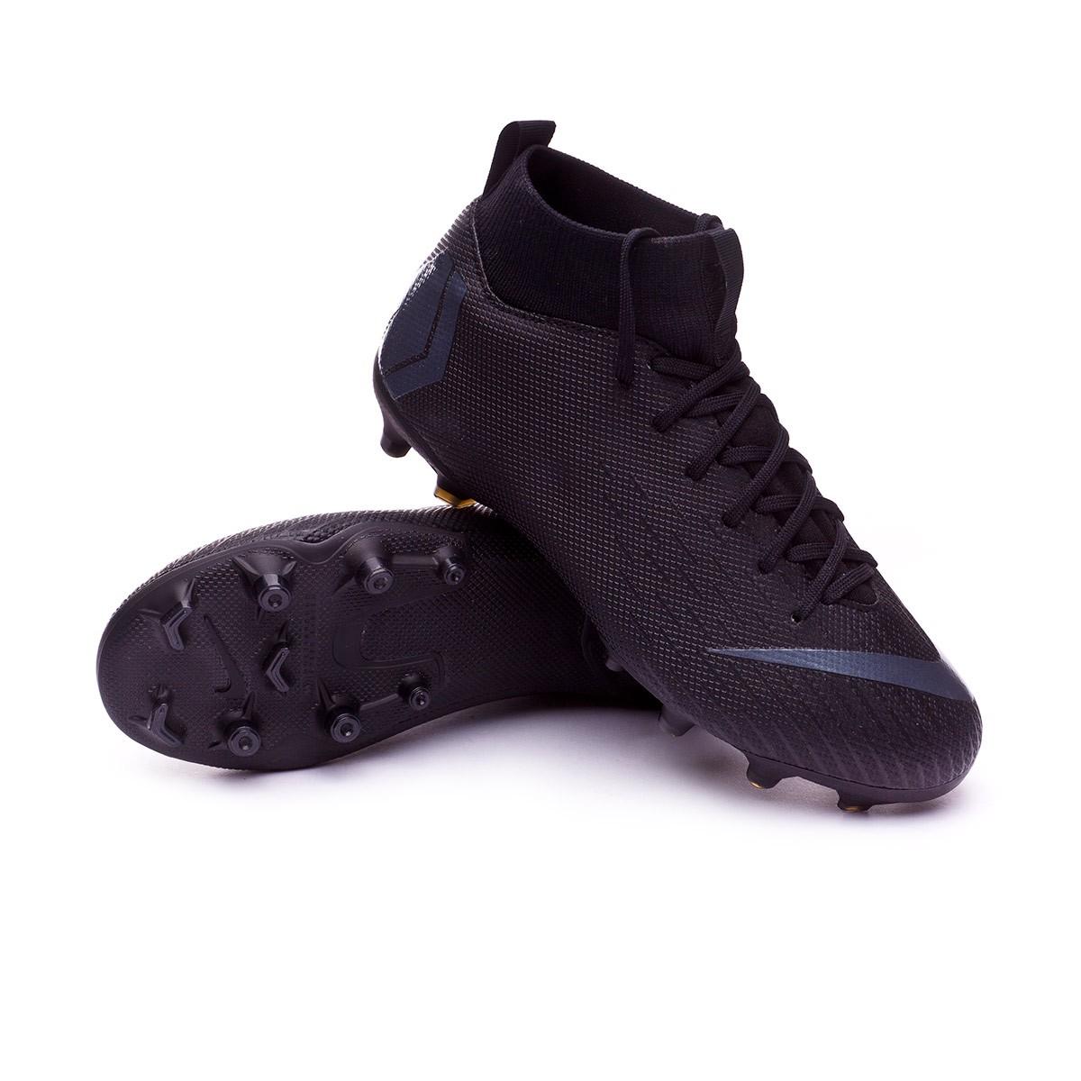 ad4c75f08 Football Boots Nike Kids Mercurial Superfly VI Academy GS MG Black ...