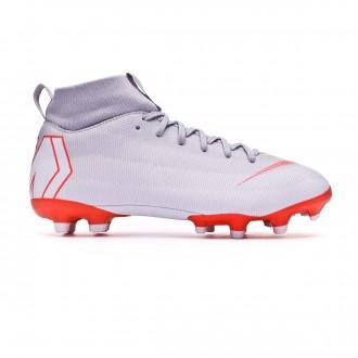 Football Boots  Nike Kids Mercurial Superfly VI Academy GS MG Wolf grey-Light crimson-Pure platinum