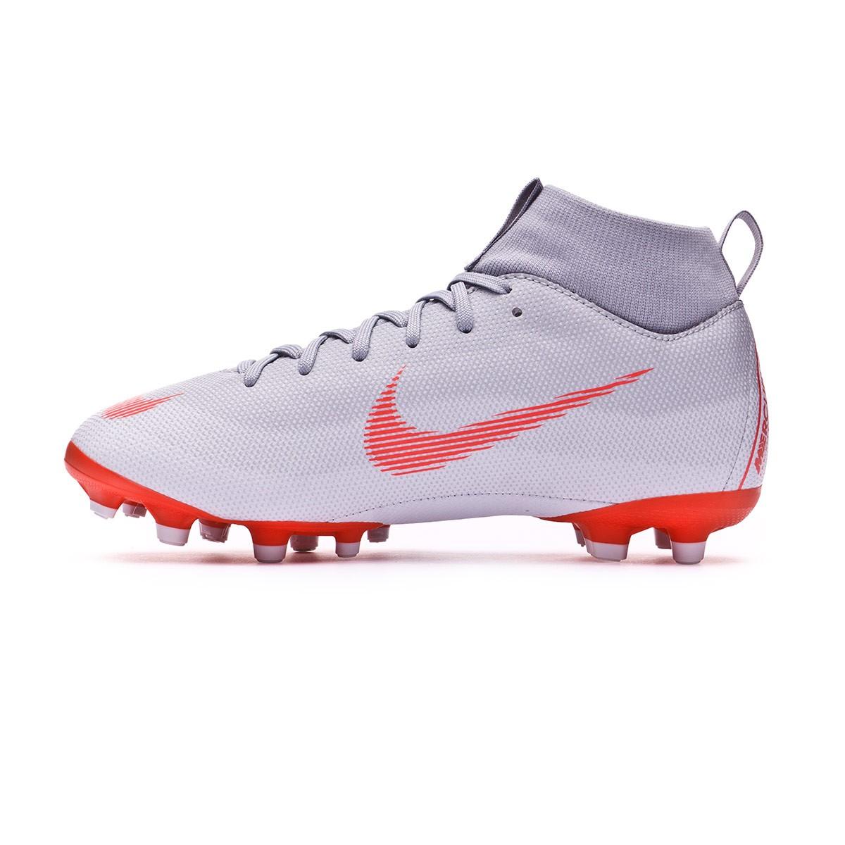 sale retailer 23b0b 71864 Football Boots Nike Kids Mercurial Superfly VI Academy GS MG Wolf grey-Light  crimson-Pure platinum - Tienda de fútbol Fútbol Emotion