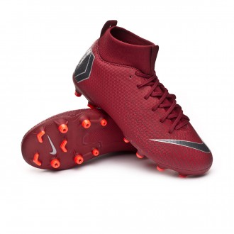 Chuteira  Nike Mercurial Superfly VI Academy GS MG Niño Team red-Metallic dark grey-Bright crimson
