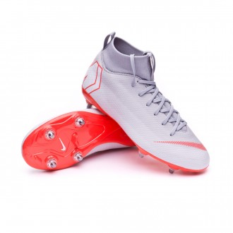 Chuteira  Nike Mercurial Superfly VI Academy SG-Pro Crianças Wolf grey-Light crimson-Pure platinum