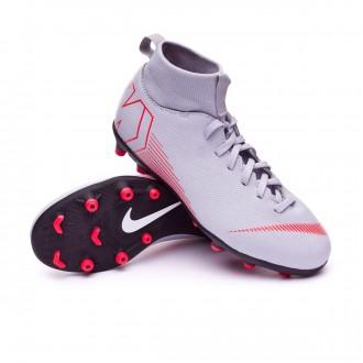 Bota  Nike Mercurial Superfly VI Club MG Niño Wolf grey-Light crimson-Black
