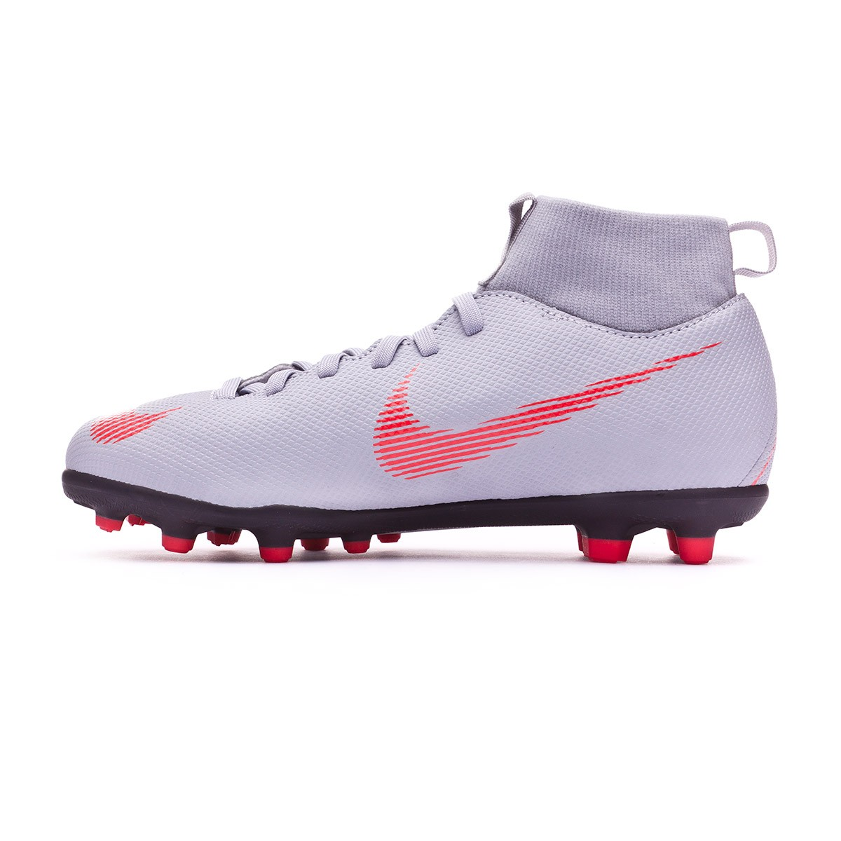 check out fac39 1496d Bota Mercurial Superfly VI Club MG Niño Wolf grey-Light crimson-Black