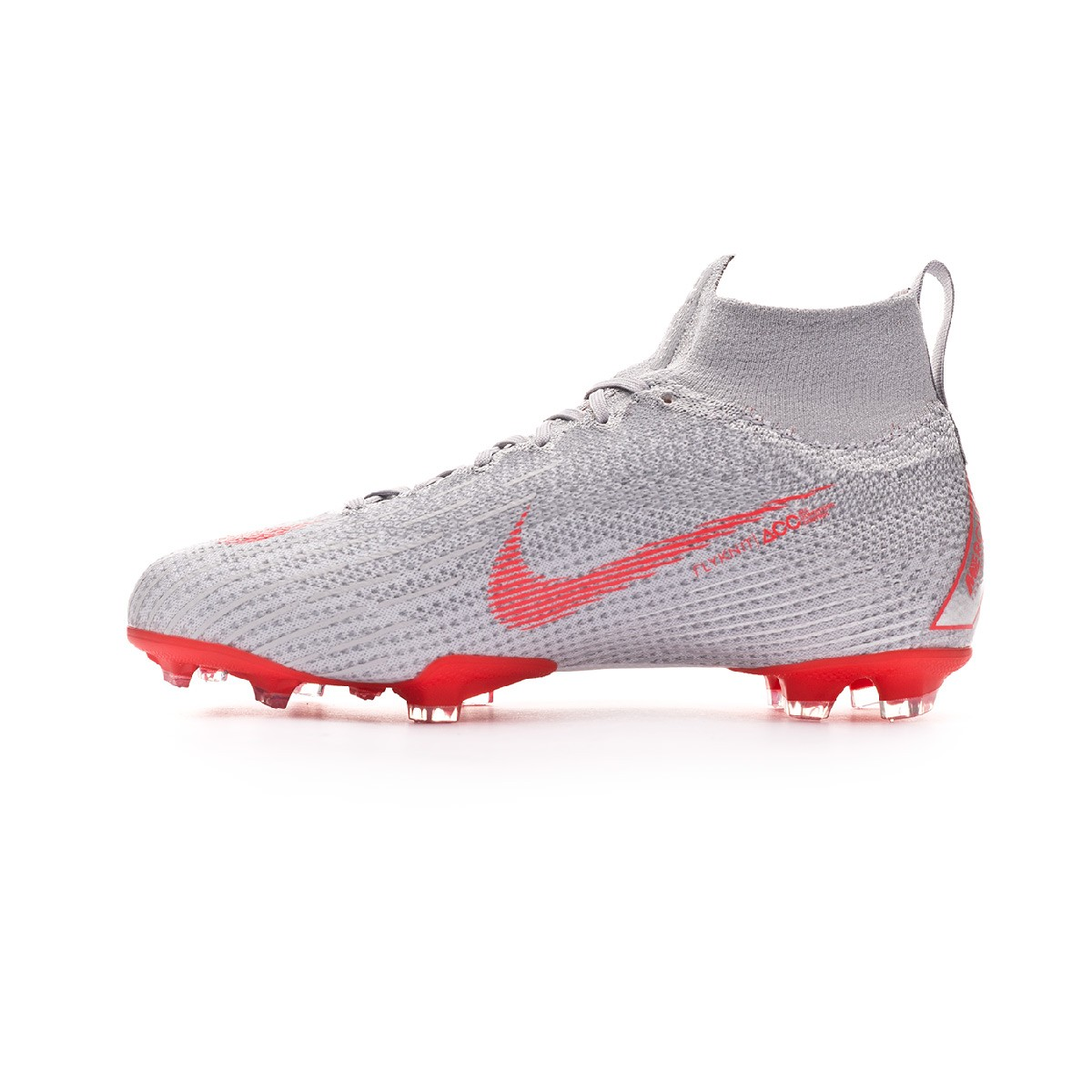 73b5a9974e Football Boots Nike Kids Mercurial Superfly VI Elite FG Wolf grey-Light  crimson-Pure platinum - Football store Fútbol Emotion