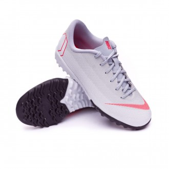 Football Boot  Nike Kids Mercurial VaporX XII Academy GS Turf  Wolf grey-Light crimson-Pure platinum