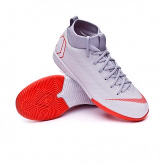 Futsal Boot  Nike Kids Mercurial SuperflyX VI Academy GS IC  Wolf grey-Light crimson-Pure platinum