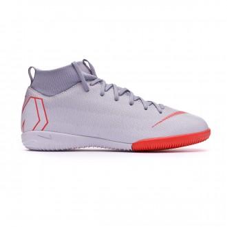 Tenis  Nike Mercurial SuperflyX VI Academy GS IC Niño Wolf grey-Light crimson-Pure platinum