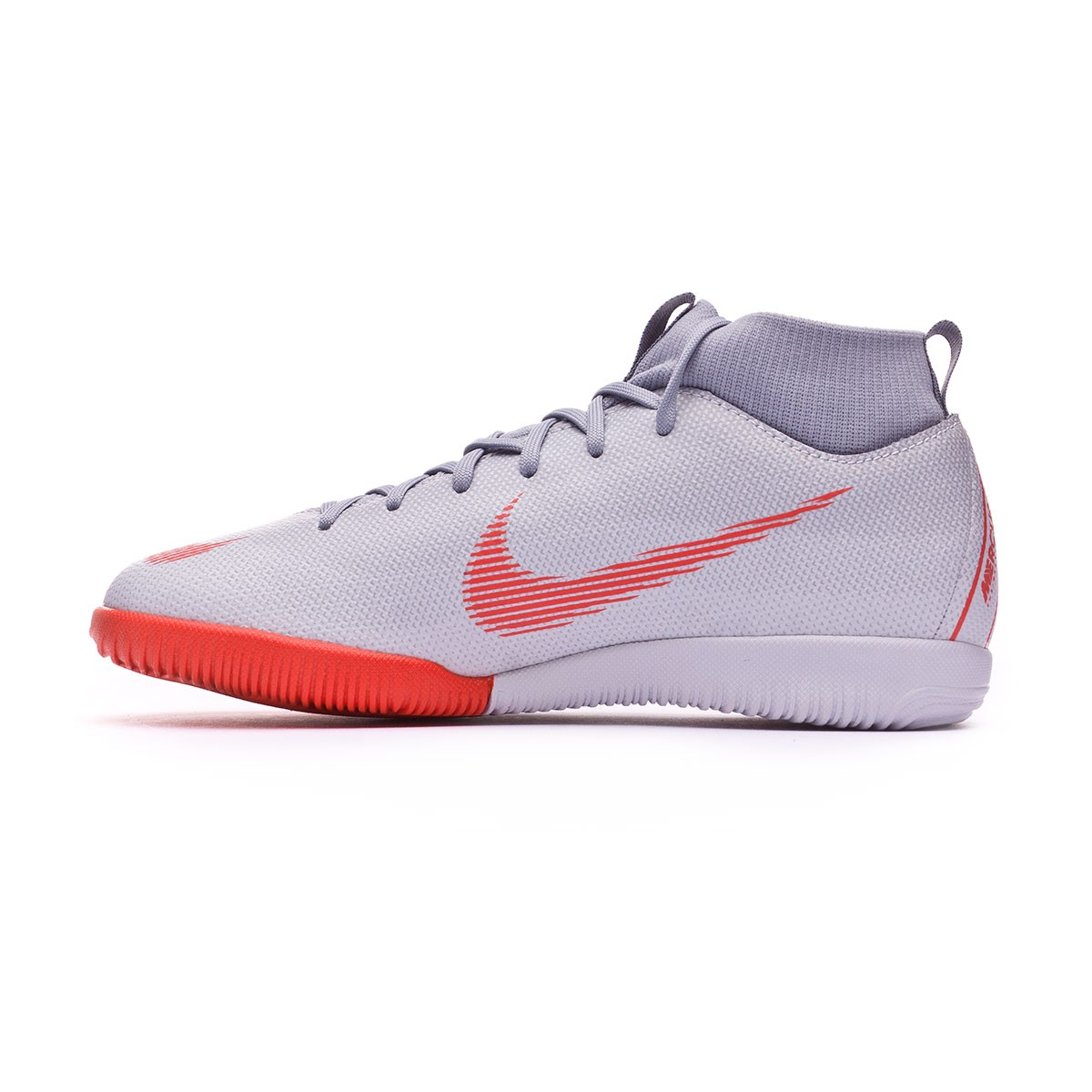 Futsal Boot Nike Kids Mercurial SuperflyX VI Academy GS IC Wolf grey-Light  crimson-Pure platinum - Leaked soccer a5bca7dbe8227