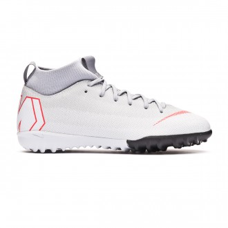 Football Boot  Nike Kids Mercurial SuperflyX VI Academy GS Turf Wolf grey-Light crimson-Pure platinum