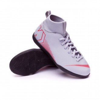 Futsal Boot  Nike Kids Mercurial SuperflyX VI Club IC  Wolf grey-Light crimson-Black