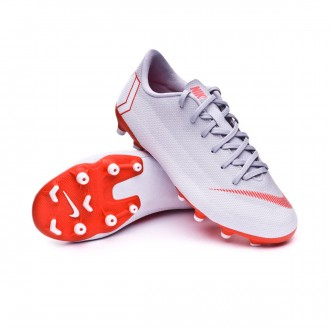 Boot  Nike Kids Mercurial Vapor XII Academy GS MG  Wolf grey-Light crimson-Pure platinum