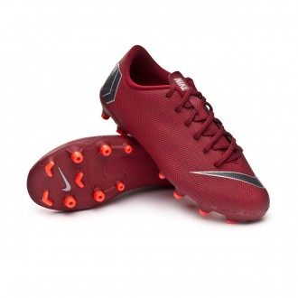 Chuteira  Nike Mercurial Vapor XII Academy GS MG Niño Team red-Metallic dark grey-Bright crimson