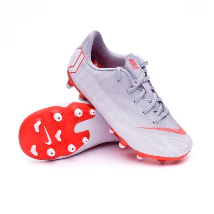 Chuteira Nike Mercurial Vapor XII Academy PS MG Crianças Wolf grey ... 30ca4b3146d8e