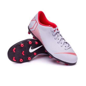 Bota  Nike Mercurial Vapor XII Club GS MG Niño Wolf grey-Light crimson-Black