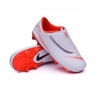 Boot Nike Kids Mercurial Vapor XII Club PS Velcro MG Wolf grey-Light  crimson- 68d3f62a0bf76