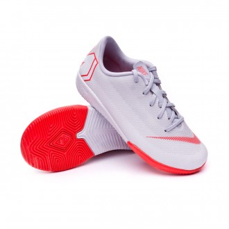 Futsal Boot  Nike Kids Mercurial VaporX XII Academy PS IC  Wolf grey-Light crimson-Pure platinum