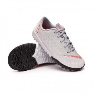 Football Boot  Nike Kids Mercurial VaporX XII Academy PS Turf Wolf grey-Light crimson-Pure platinum