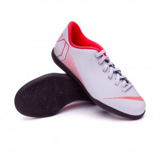 Zapatilla  Nike Mercurial VaporX XII Club GS IC Niño Wolf grey-Light crimson-Black